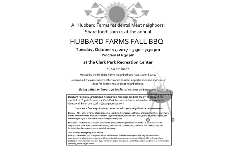 Hubbard Farms Fall BBQ