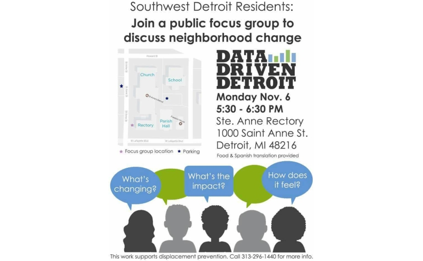 public focus group to discuss neighborhood change